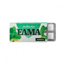 Elma Gum Spearmint / Τσίκλα Δυόσμος χωρίς Ζάχαρη 14g