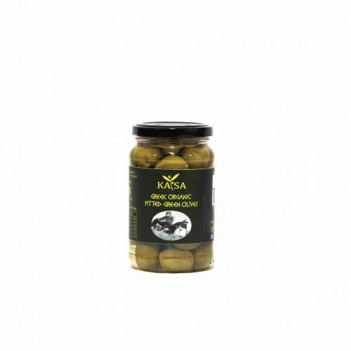 Greek Organic Pitted Green Olives / ΚΑΤΣΑ Βιολογικές Πράσινες Ελιές 340g