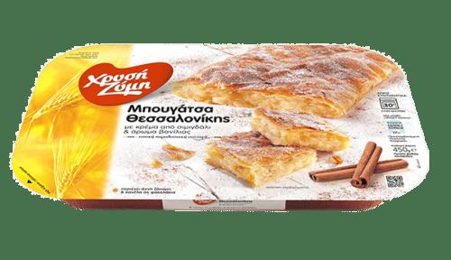 Chrysi Zymi Traditional Thessaloniki bougatsa cream pie / Χρυσή Ζύμη Μπουγάτσα Θεσσαλονίκης Κρέμα 850g