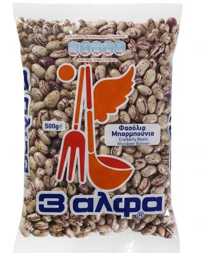 3A Granberry Beans / 3 Αλφα Φασόλια Μπαρμπούνια 500g