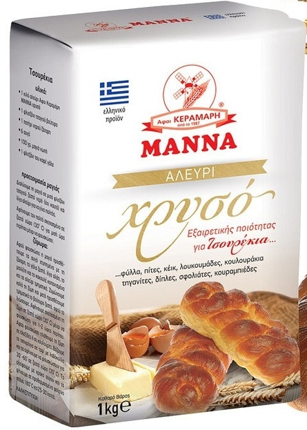 Manna Flour Brioche / Μαννα Αλεύρι Χρυσό για Τσουρέκι 1kg