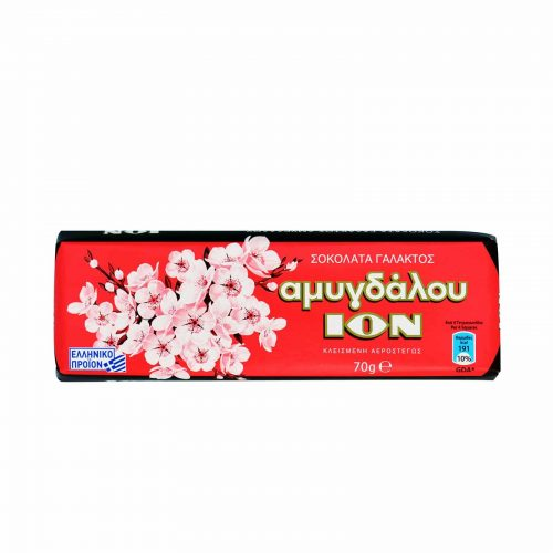Ion Almond Milk Chocolate / Σοκολάτα Γάλακτος Αμυγδάλου 70g