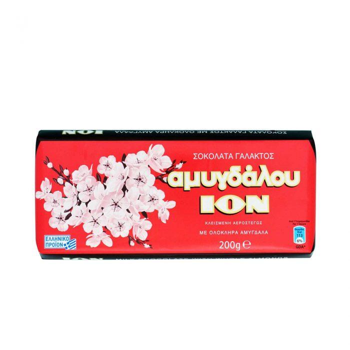 Ion Almond Milk Chocolate / ΙΟΝ Σοκολάτα Γάλακτος Αμυγδάλου 200g