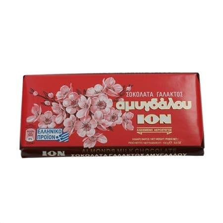 Ion Almond Milk Chocolate / Σοκολάτα Γάλακτος Αμυγδάλου 100g