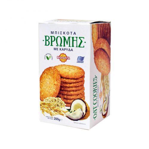 Violanta Oat Cookies Coconut / Βιολάντα Μπισκότα Βρώμης με Καρύδα 200g