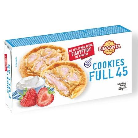 Violanta Cookies Full 45 Βιολάντα Μπισκότα Γιαούρτι με Φράουλα 150g