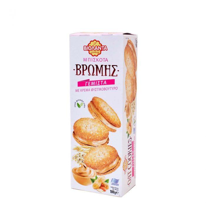 Violanta Biscuits with Peanut Butter / Βιολάντα Μπισκότα Βρώμης Γεμιστά με Φυστικοβούτυρο 180g