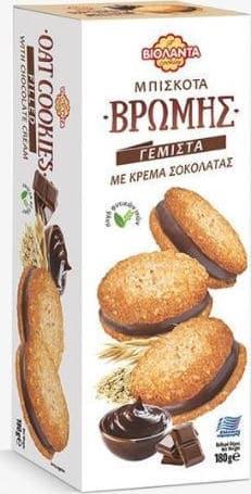 Violanta Soft Cookies with Chocolate Filling / Βιολάντα Μπισκότα Βρώμης Γεμιστά με Κρέμα Σοκολάτα 180g