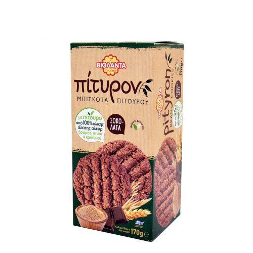 "Violanta Chocolate cookies with bran / Βιολάντα Μπισκότα Πίτουρου με Σοκολάτα ""Πίτυρον"" 170g"