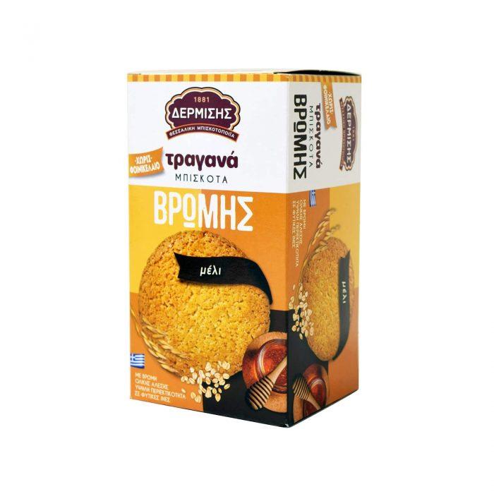 Dermisis Crunchy Oat Biscuits with Honey / Δερμίσης Τραγανά Μπισκότα Βρώμης Μελιού 180g