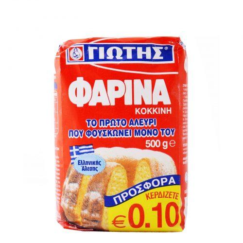Jotis Farina Flour Red / Γιώτης Φαρίνα Κόκκινη 500g
