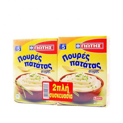 Jotis Mashed Potato / Γιώτης Πουρές Πατάτας Στιγμής (2x125g)