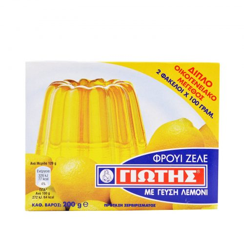 Jotis Jelly Crystals Lemon / Γιώτης Φρουί Ζελέ Λεμόνι 2x100g