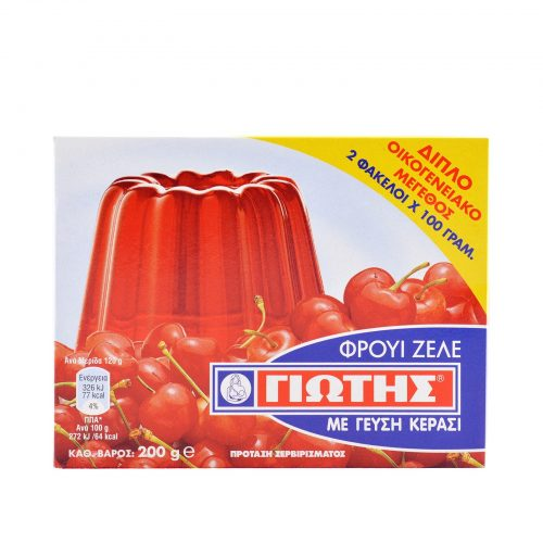 Jotis Jelly Crystals Cherry / Φρουί Ζελέ Κεράσι 2x100g