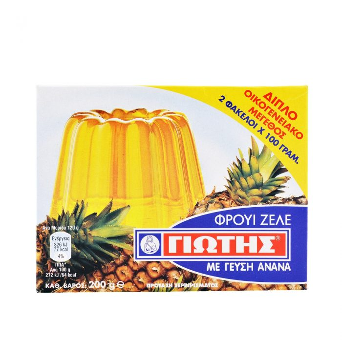 Jotis Jelly Crystals Pineapple / Φρουί Ζελέ Ανανάς 2x100g