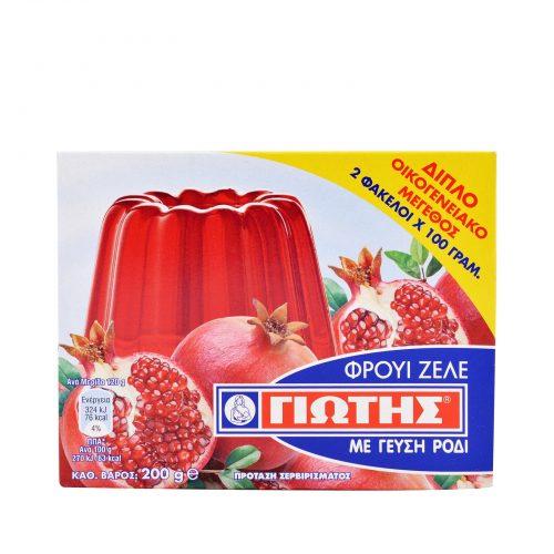 Jotis Jelly Crystals Pomegranate / Γιώτης Φρουί Ζελέ Ρόδι 2x100g