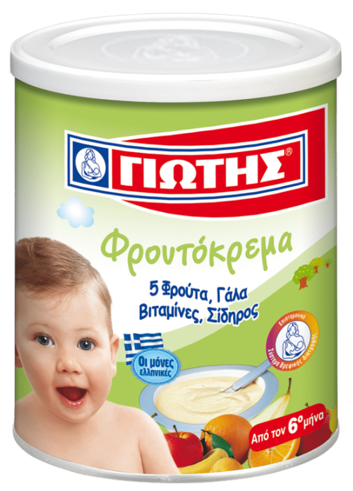 Jotis Wheat Cereal with Milk and Fruits / Γιώτης Κρέμα παιδική με φρούτα 300g