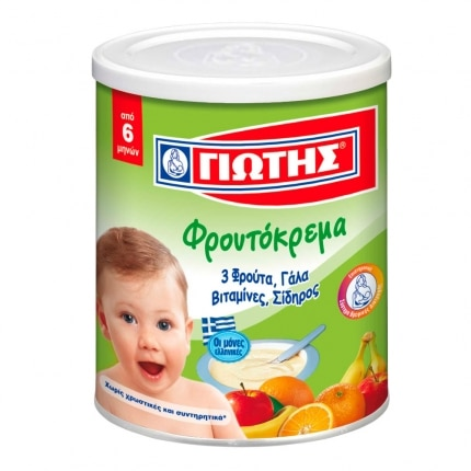 Jotis Wheat Cereal with Milk and 3 Fruits / Γιώτης Φρουτόκρεμα με 3 Φρούτα 300g