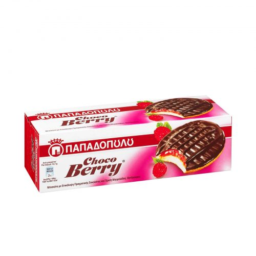 Papadopoulou Choco Berry / Παπαδοπούλου Μπισκότα Choco Berry με Μαρμελάδα Κόκκινων Φρούτων & Σοκολάτα 150g