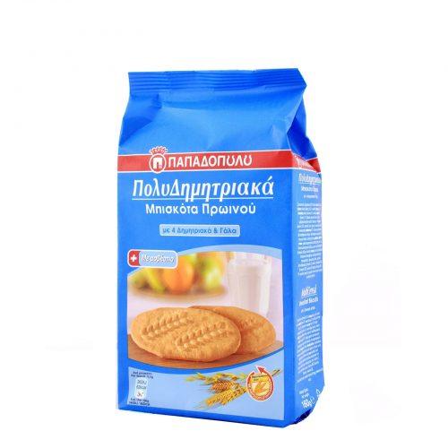 Papadopoulou MultiCereals & Milk / Μπισκότα Πολυδημητριακά με γάλα 160g