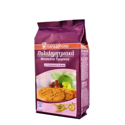 Papadopoulou MultiCereals & Muesli / Μπισκότα πολυδημητριακά με Muesli 175g