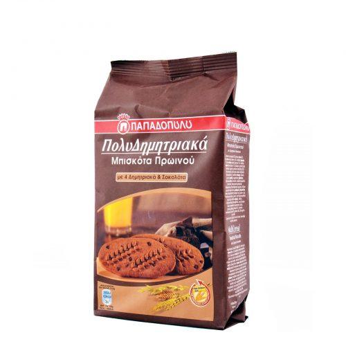 Papadopoulou MultiCereals Chocolate / Μπισκότα Πολυδημητριακά Σοκολάτα 160g