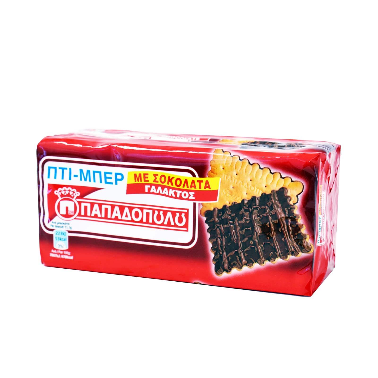 62fd7c71536 Papadopoulou Petit-Beurre Chocolate Biscuits / Πτι μπερ Μπισκότα με Σοκολάτα  Γάλακτος 200g