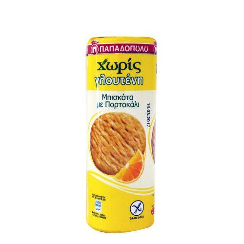 Papadopoulou Orange biscuits, gluten-free / Παπαδοπούλου Μπισκότα Με Πορτοκάλι Χωρίς Γλουτένη 195g