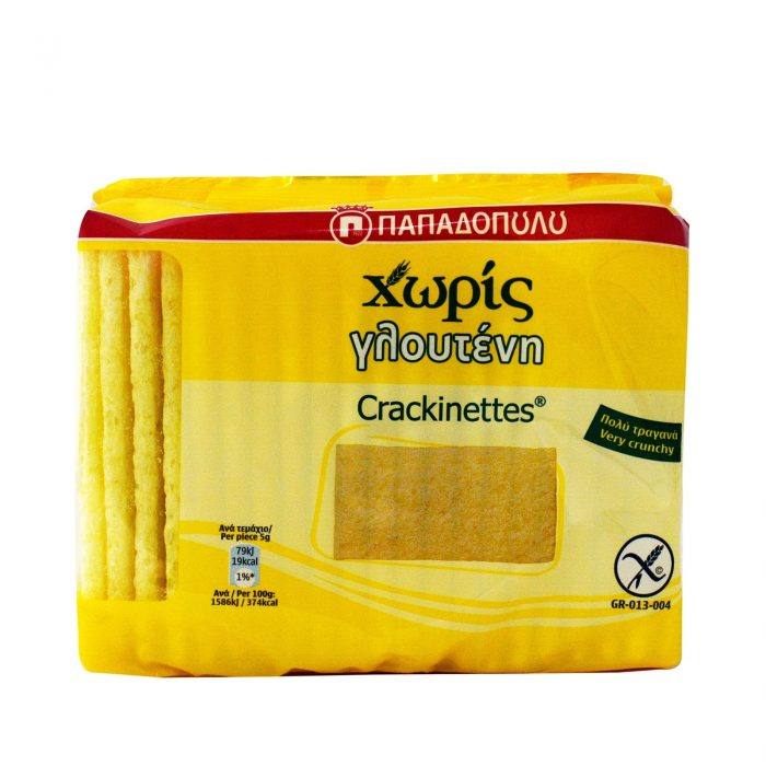 Papadopoulou Crackinettes, gluten-free / Παπαδοπούλου Crackinettes χωρίς Γλουτένη 100g