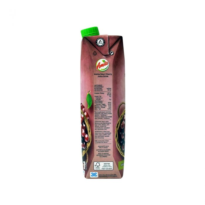 Amita Juice Froutopoto Sour Cherry / Φρουτοποτό Βύσσινο 1L
