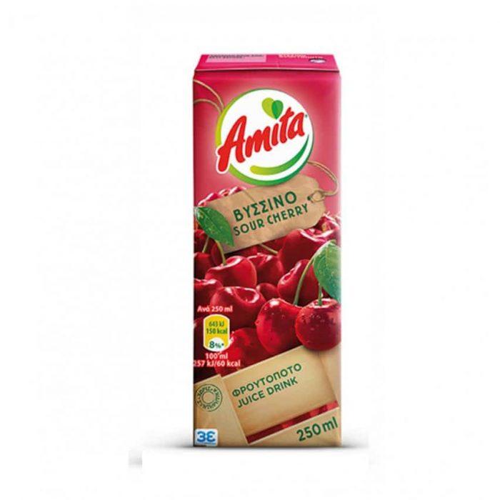 Amita Juice Froutopoto Sour Cherry / Φρουτοποτό Βύσσινο 250ml