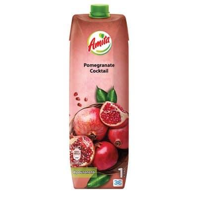 Amita Fruit drink, Cocktail Pomegranate / Φρουτοποτό Κοκτέιλ Ρόδι 1L