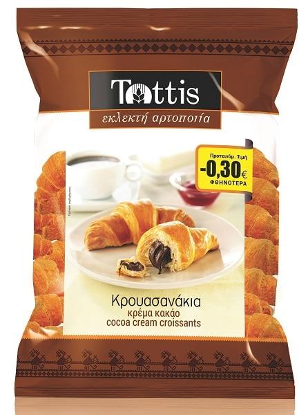 Tottis Mini Croissants with Cocoa Ceam / Τόττης Κρουασανάκια με Κρέμα Κακάο 300g
