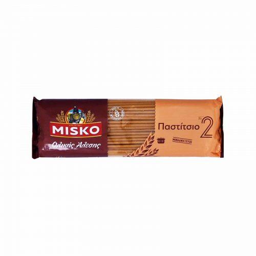 Misko Greek Makaroni for Pastitsio Whole Grain / Παστίτσιο Νο2 Ολικής Άλεσης 500g