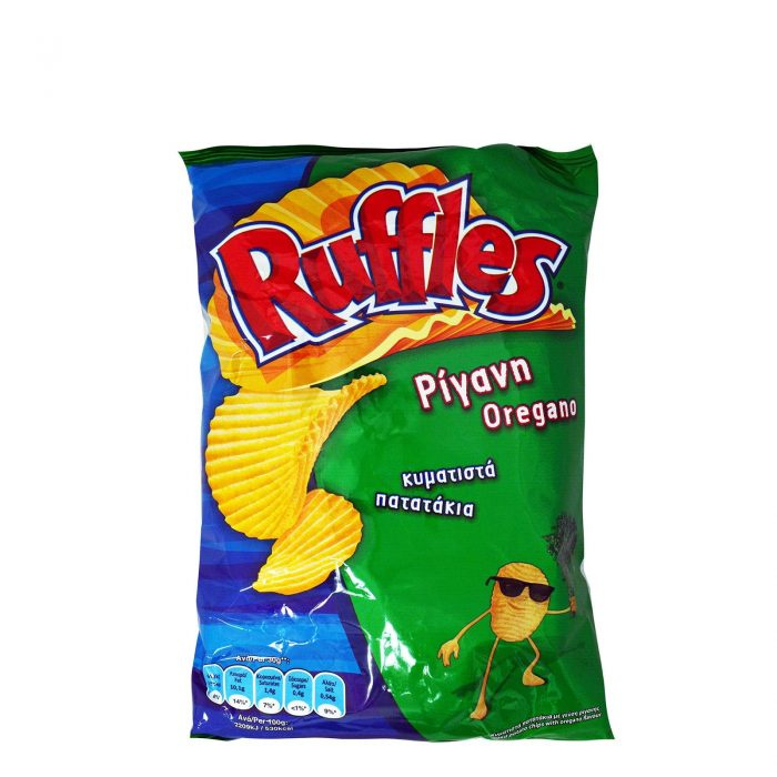 Ruffles Chips with Oregano / Πατατάκια με Ρίγανη 150g