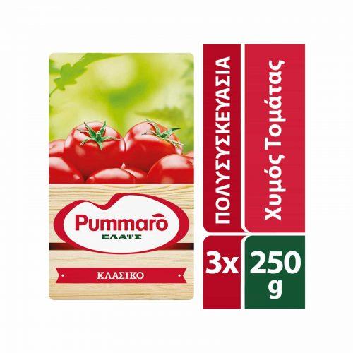 Pummaro Slightly Concentrated Tomato Juice (Passata) / Χυμός Τομάτας Ελαφρύς Συμπυκνωμένος 3x250g