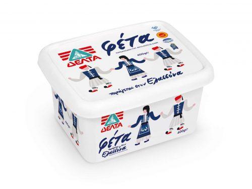 Delta Feta Cheese P.D.O. / ΔΕΛΤΑ Τυρί Φέτα Π.Ο.Π. 400g