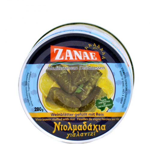 Zanae Vine Leaves Stuffed with Rice / Ντολμαδάκια Γιαλαντζί 280g