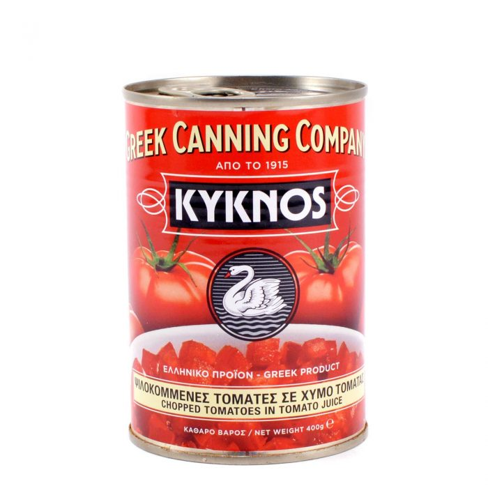 Kyknos Chopped tomatoes in tomato juice / Τομάτα Ψιλοκομμένη 400g ΚΥΚΝΟΣ