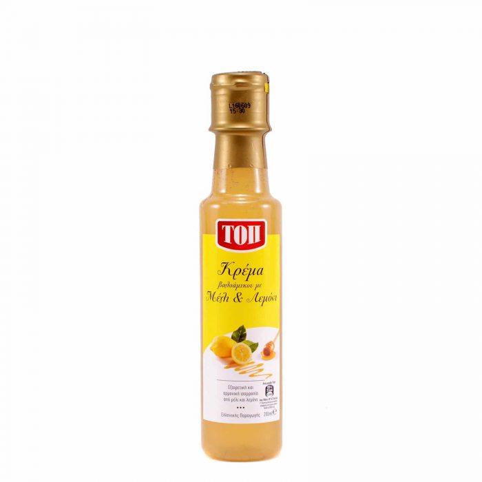 Balsamic Vinegar Cream with Honey and Lemon / Τοπ Ξύδι Βαλσάμικο Κρέμα με Μέλι και Λεμόνι 200 ml