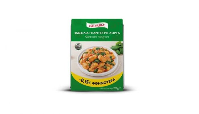 Palirria Giant Beans with Greens / Παλίρροια Φασόλια γίγαντες με χόρτα 200g
