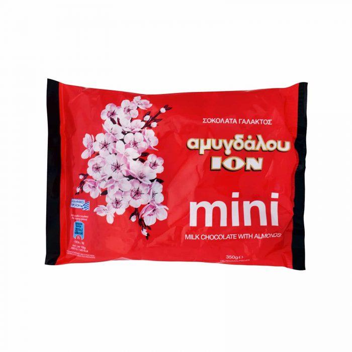 Ion mini MiIk Chocolate with almonds / ΙΟΝ Σοκολατάκια Αμυγδάλου 350g