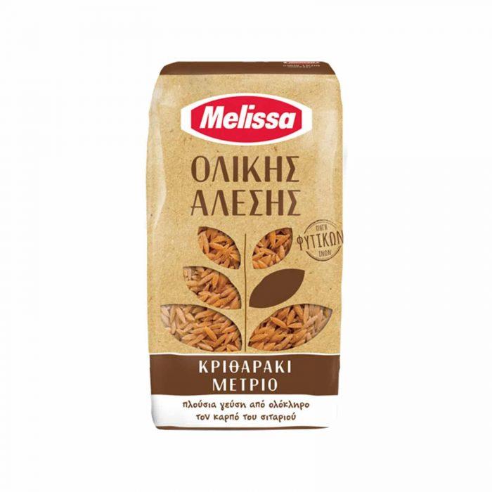 Melissa Orzo (kritharaki) Medium, Whole Wheat / Κριθαράκι Ολικής Άλεσης Μέτριο 500g