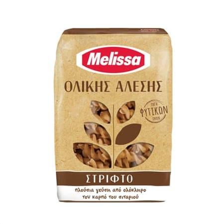 Melissa Whole Wheat Fusilli Pasta / Στριφτό Ζυμαρικό Ολικής Άλεσης 500g