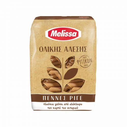 Melissa Whole Wheat Penne Rigate / Πέννες Ριγέ Ολικής Άλεσης 500g