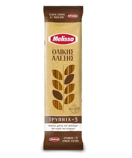Melissa Bucatini Whole Wheat Νο 5 / Τρυπητά Ολικής Άλεσης Νο 5