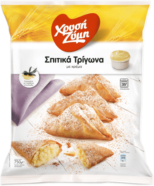 Chrysi Zymi Homemade mini bites with cream / Χρυσή Ζύμη Σπιτικά Τρίγωνα με κρέμα 750g