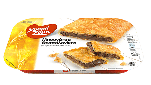 Chrysi Zymi Thessaloniki Bougatsa pie with hazelnut praline / Χρυσή Ζύμη Μπουγάτσα Θεσσαλονίκης με πραλίνα φουντουκιού 450g