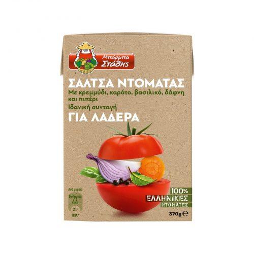 Barba Stathis Tomato Sauce, Ideal for Casserole Dishes / Μπάρμπα Στάθης Σάλτσα Ντομάτας για Λαδερά 370g
