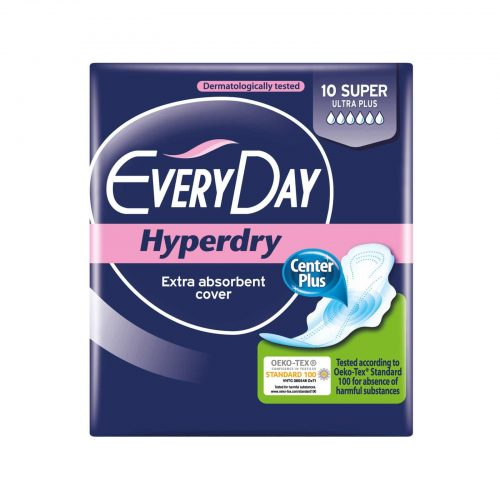 EveryDay Hyperdry Extra absrobent cover Super Ultra Plus / Σερβιέτες 10 Τεμ